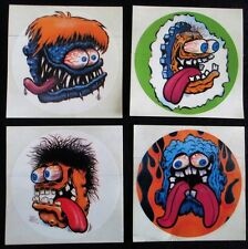 "Rat Fink, Reno Roth ""Hot Rod Monsters"" Stickers Decal, Big Daddy Warehouse Find!"