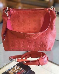 Last One! Klara Medium Monogram Hot Coral Leather Hobo Bag $750+ Tax