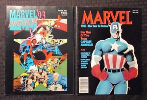 1990 FVF & 1993 VF MARVEL Year In Review Magazine LOT of 2 Spider-Man