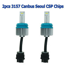 2pcs 3157 LED Canbus 2000 Lumens Error Free Bulbs Bright White CSP 9-SMD 6500K