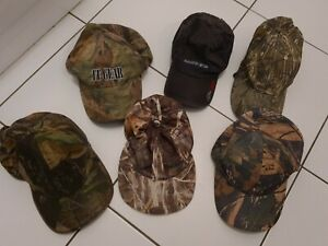 Men Women Camouflage Caps Camo Baseball Hunting Fishing hat bundle