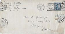 1931 Cover from Newton Centre, MA to Liepaja, Latvia (Scott 637)
