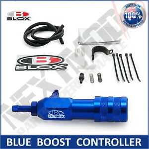 BLOX BLUE Manual Boost Controller Adjustable Boost Tee Turbo Supercharged MBC