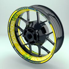 Felgenaufkleber für Motorrad Felgenrandstreifen Movistar Optik Set viele Farben