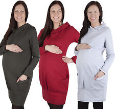Umstandspullover Kapuzenpullover / Sweatshirt Pullover mit Taschen  / Pullover