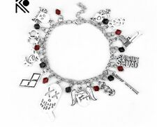 NEW Suicide Squad Silver Plated Charm Bracelet - Perfect Gift for Christmas