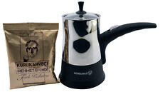 Korkmaz Vision Stainless Steel Electric Turkish Coffee Maker with 3 Packs Coffee
