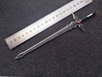 """1/6 Scale Metal Black cross sword model Model For 12"""" Male & Female Body"""