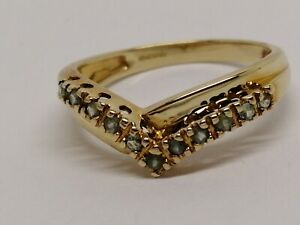 Alexandrite Rare Gemstone Ring in 9 carat Gold -  Ring Size N Collection stone