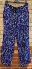 STORE TWENTY ONE LILAC BIRD BIRDS FLORAL PRINT FLARE SUMMER TROUSERS PANTS XL