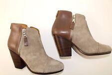 $525 RAG & BONE Margot Stone combo Suede / Leather Booties sz EU 35 / US 5 grey