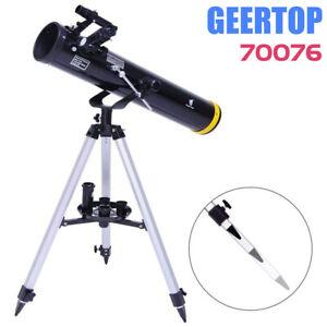 GEERTOP Telescope 76mm Aperture & 700mm Focal Length, Finder Scope 67X & 201X Re