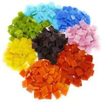 Mosaic Tiles for Crafts 480 Pieces Assorted Stained Glass Mosaic Tile Supplies