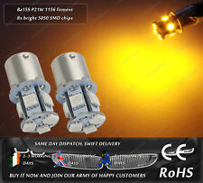 LED Bau15s PY21W Amber Yellow Orange Turn Signal Indicator Side Repeater Bulbs