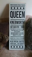 Queen Knebworth 1986 Music Concert WOODEN SIGN POSTER WALL PLAQUE HANDMADE