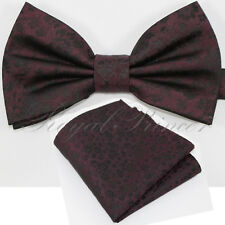 646 Floral Flowers Paisley Bow tie and Pocket Square Hankie Wedding Party Prom