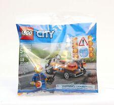 Lego City 30357 Road Construction Worker Minifigure & Vehicle New Sealed 58 pcs