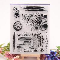 Transparente Silikonstempel Kreispunktsatz Prägung DIY Scrapbooking Karten Dekor