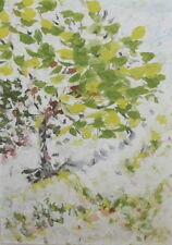 1999 Impressionist oil painting tree signed