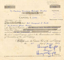 The Barking Broadway Bioscope Theatre  > 1949 England stock certificate