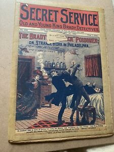 1922 Secret Service Comic book Old And Young King Brady Detectives