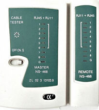 Technotech Cable Tester LAN Network RJ-45 Cat-5 RJ-11/12