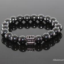Herren Kristall Spacer Beads mit Hämatit Perlen Shamballa Armband für Männer