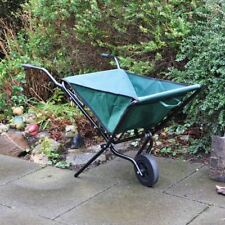 Lightweight Green Space Saving Folding Garden Wheelbarrow Foldable Wheel Barrow