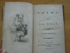 Poems By Mr. Gray. A New Edition. London. For J. Murray, Fleet Street 1790
