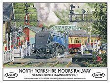 SIR NIGEL GRESLEY,Treno a vapore 60007,nymr STAZIONE GRANDE Cartello in metallo,