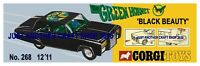 Corgi Toys 268 The Green Hornet Streamer Poster Advert Leaflet Shop Sign 1968