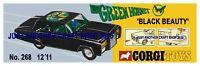 Corgi Toys 268 The Green Hornet Streamer Poster Advert Leaflet Shop Sign 1968