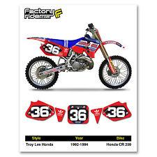 1992-1994 HONDA CR 250 Number Plate Dirt Bike Graphics DECALS TLD By Enjoy MFG