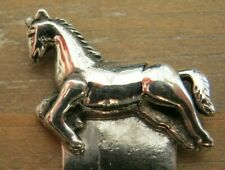 Sweet Sterling Silver 925 Running Horse Stallion Bookmark
