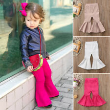 Toddler Kids Girls Soft Bell Bottoms Stretch Flare Pants Boho Fashion Trousers