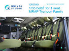 Quinta QR35001 MRAP Typhoon belts for 1 seat 3DPrinted coloured for all kits