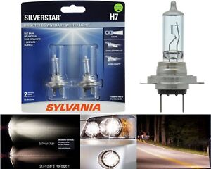 Sylvania Silverstar H7 55W Two Bulbs Head Light Low Beam Replacement Upgrade DOT