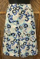 Talbots Womens Bermuda Shorts Size 8 Multicolor Floral Print Cotton Stretch