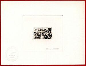 Ivory Coast 1965 #223, Artist Signed Die Proof, Potter