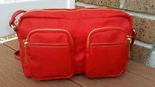 Olivia + Joy Nylon Red Crossbody Messenger Shoulder Bag Purse