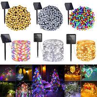LED Solar Light Outdoor Waterproof String Fairy Lamps Garden XMAS Party Decor