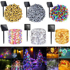 LED Solar Light Outdoor Waterproof String Fairy Lamps Garden XMAS Party Decor