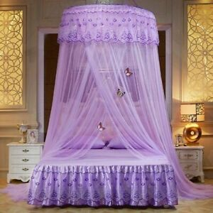 Princess Round Dome Mosquito Curtain Lace Canopy Hung Bed Insect Nets Home Decor