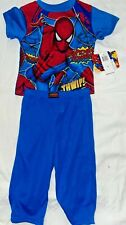 Spider-man Boys Blue And Red 2 Piece Pajama Set Size 2T
