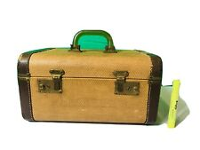 Vintage Crown Luggage Train Case With Mirror