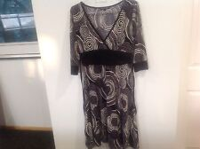 REBECCA RUBY Designer Stretch Work / Occasion Stretchy Dress Sz S BEAUTIFUL