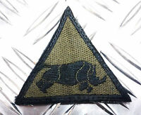 Genuine British Army Armoured Division Charging Rhino Triangle Patch / Badge