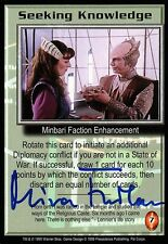 BABYLON 5 CCG Mira Furlan PSI CORPS Seeking Knowledge AUTOGRAPHED