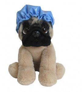 Doug the Pug wearing Shower Cap - Brand New Plush / Teddy H21cm