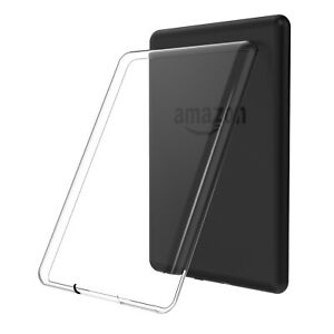 For Amazon Kindle Tablets Slim Clear TPU Soft Silicone Case Transparent Cover
